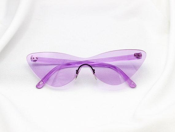 Teinté shield lunettes de soleil Sans monture Lunettes de   Etsy 6393cf20ad95