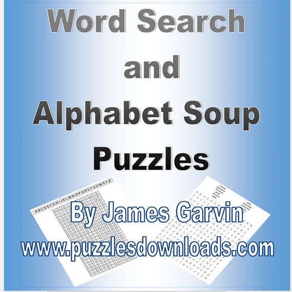 Word Search and Alphabet Soup Puzzles