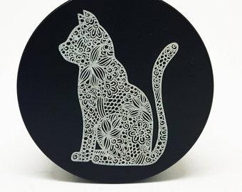 "Laser Engraved Premium Herb grinder ||  MANDALA cat ll  2""  (50MM) 4-piece aluminum"