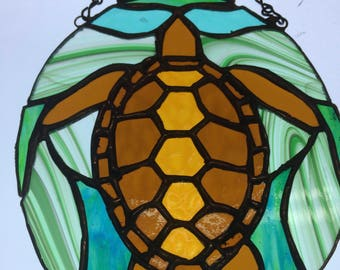 Stained Glass Turtle: Inner Space Traveler