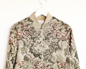 Tapestry bomber jacket / Flowers jacquard/ Loose fitting / Pre-order