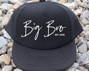 ac9a192b Big Brother Hat | Big Brother Snapback | Toddler Trucker Hat | Kids Trucker  Snapback | Sibling Announcement | Baby Announcement Big Brother