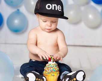 First Birthday Trucker Hat  5f0fdc7b44d