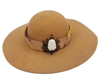 a2c41513053 Hatband Longhunter Eagle Skull hand carved Mountain Man