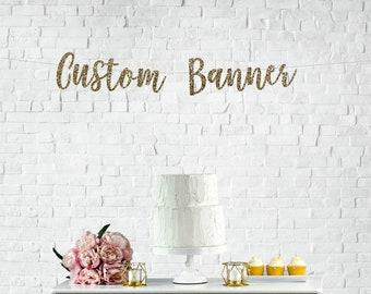 CUSTOM BANNER, custom glitter banner, personalized banner, personalized glitter sign, name banner, wedding banner, custom garland