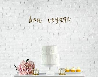 Bon Voyage Party, Bon Voyage Banner, Bon Voyage Decor, Travel Party, Travel Party Decor, Farewell Party, Farewell Banner, Going Away Party