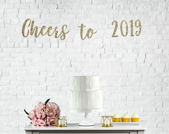 cheers to 2019 banner happy new years banner 2019 new years banner cheers to a new year banner new years banner new years eve party