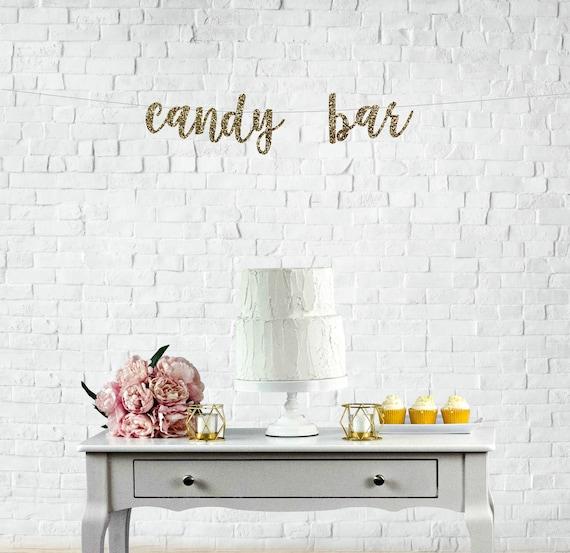 Candy Bar Banner Candy Buffet Banner Wedding Reception Etsy