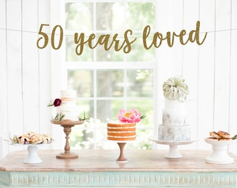 50th anniversary decorations | Etsy