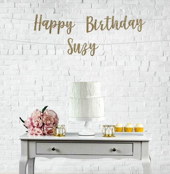 happy birthday banner happy birthday sign happy birthday etsy