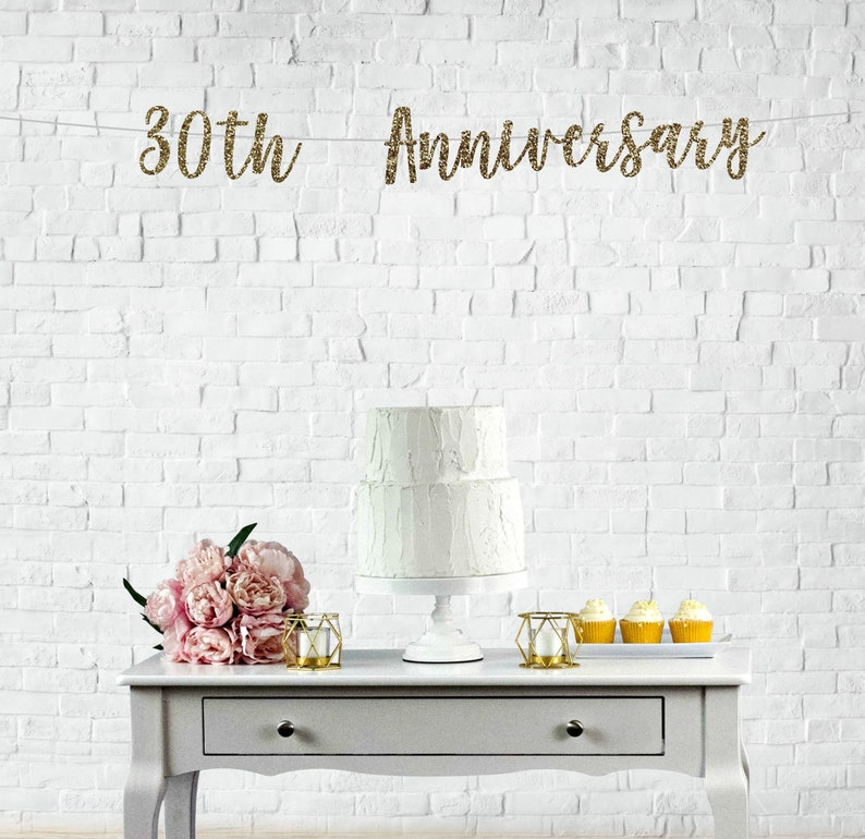 30th Anniversary Banner Happy 30th Anniversary Banner Happy Etsy
