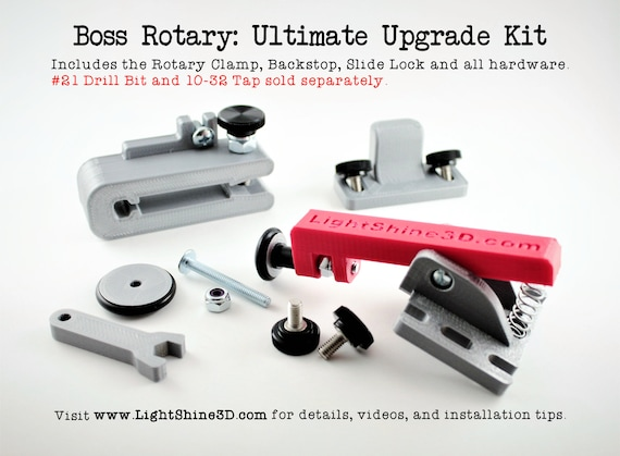 Boss Rotary: Ultimate Upgrade Kit - Fits all Boss models with the wheeled  rotary attachment