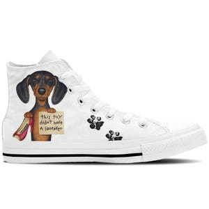 Naughty Jamnik Buty Damskie Z Psem Design Puppy Design Dar Etsy