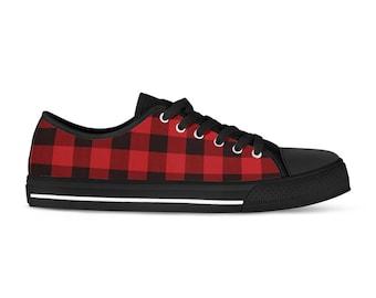 Plaid shoes   Etsy
