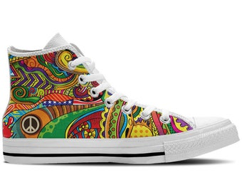 b17acd91bbc9 Women s High Top Sneaker with Colorful Print