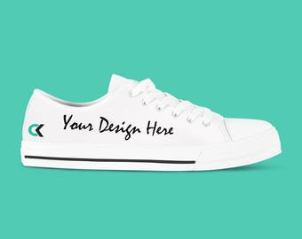 Custom Shoes - Men's Customized Canvas Sneakers, Design Your Own. Fun Wedding shoes!