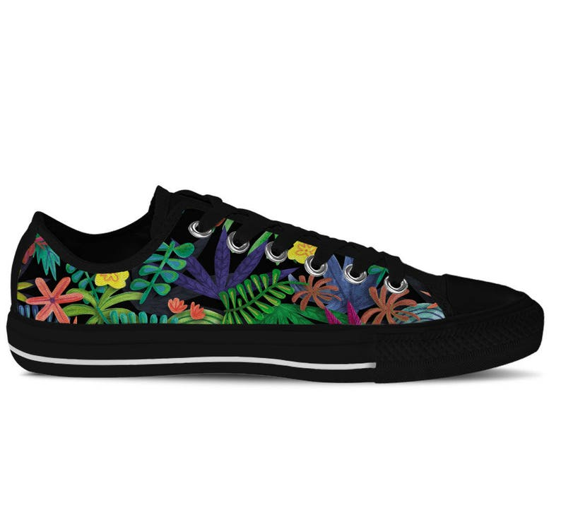 Women/'s Canvas Shoes  Sneakers with Tropical Colorful Floral Flowers Pattern