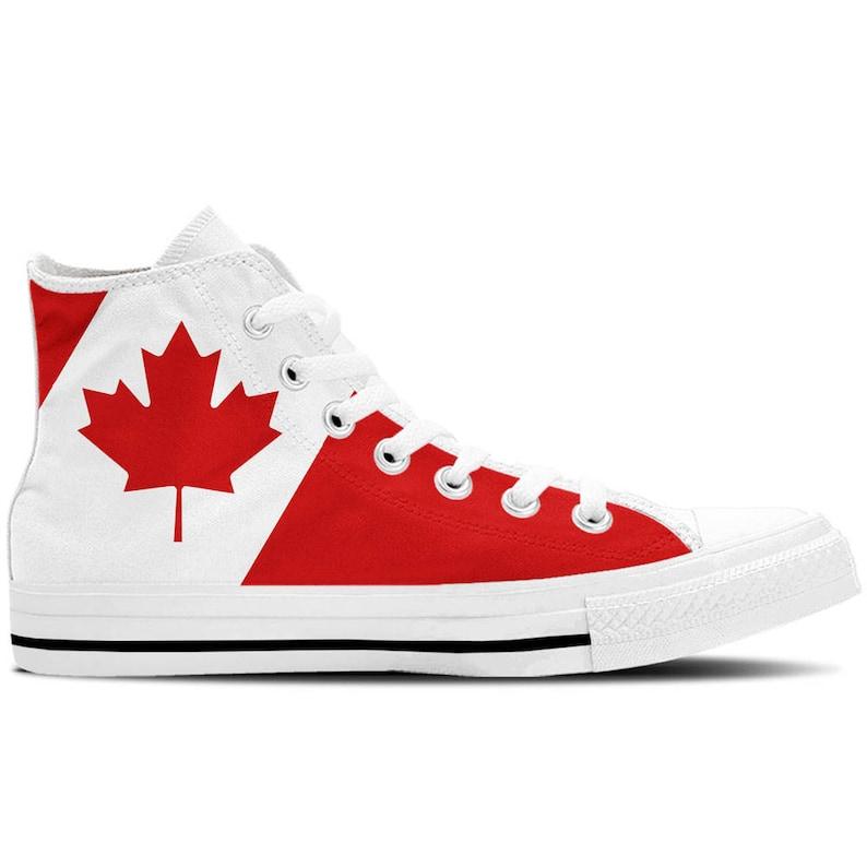 e78e81f6bf96 Canada Canadian Flag Women s High Top Sneakers   Custom