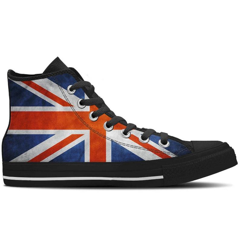 1206a2b03b UK Flag British Flag Union Jack Flag Women's High Top | Etsy