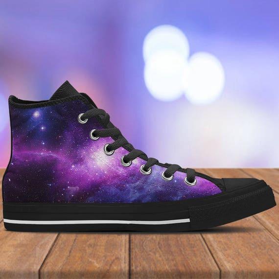 2017 Purple Galaxy Nebula Original Design Converse All Star