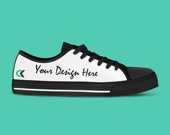 Custom Shoes - Women's Customized Canvas Sneakers, Design Your Own. Fun Wedding shoes!