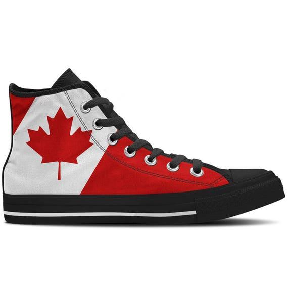 d70d87a40143 Canada Canadian Flag Women s High Top Sneakers   Custom