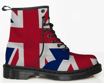 UK Flag Boots British Union Jack Leather Boots