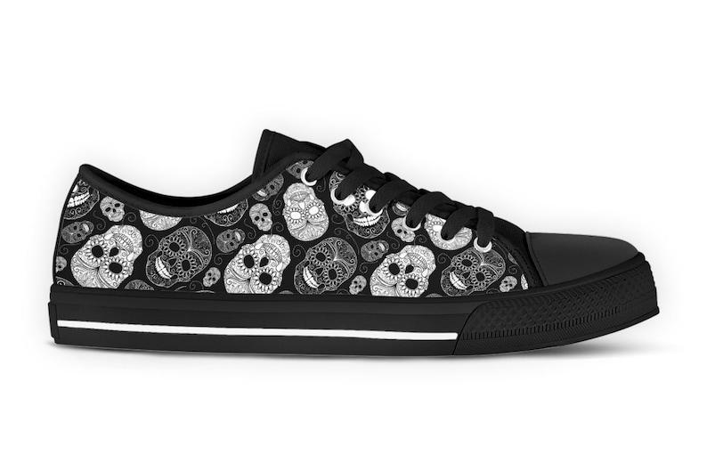 Santa Muerte Sneakers Dia de Los Muertos Tennis Shoes Sugar Skulls Shoes Day of the dead