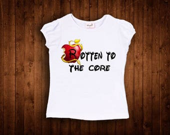 inspired by descendants rotten to the core birthday shirt