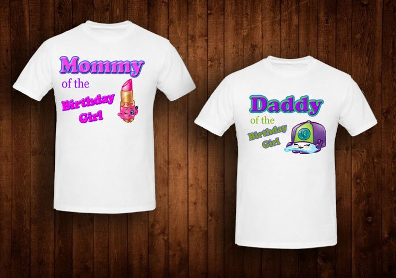 Family Shirts Shopkins Theme Mom Of The Birthday Girl Dad