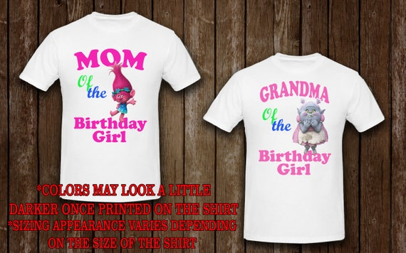 Family Shirts Trolls Birthday Theme Mom And Dad Shirt