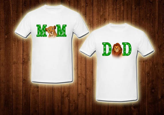 Family Shirts Lion King Birthday Theme Of The Boy Dad