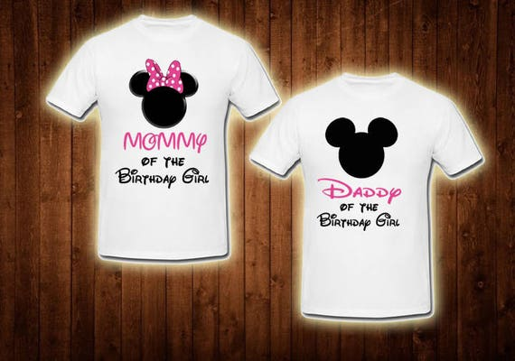 Family Shirts Pink Minnie Mouse Birthday Theme Mom Of The