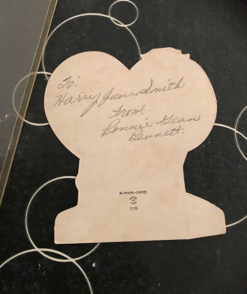 Vintage Valentines CardValentines DayDie Cut CardPreviously SignedProtective Plastic SleeveValentine