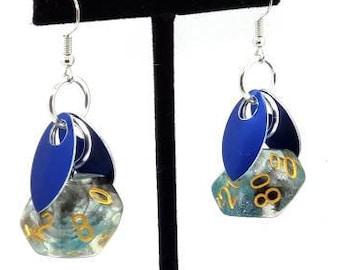 Wings of  the Shadow Sprite Earrings D10/D00 - D&D Earrings - DND Earrings - DnD Dice - Dice Earrings