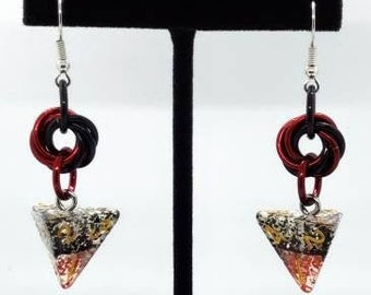 Vampire D4 Earrings - D&D Earrings - DND Earrings - DnD Dice - Dice Earrings