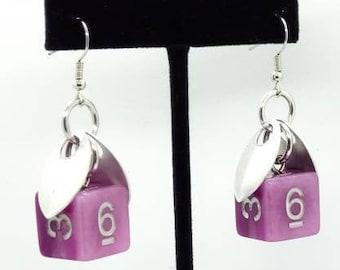 Wings of the Fae Sprite Earrings D6 - D&D Earrings - DND Earrings - DnD Dice - Dice Earrings