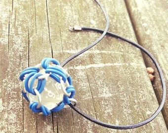 Removable 20 Sided Die Pendant - Functional - Chainmaille Pendant - D20 - Dice Pendant