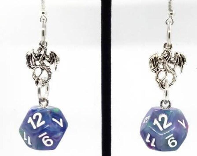 Muse Earrings D12 - D&D Earrings - DND Earrings - DnD Dice - Dice Earrings