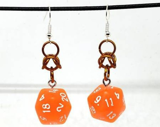 Forge Embers Nat 20 Earrings - D20 Earrings - D&D Earrings - DND Earrings - DnD Dice - Dice Earrings