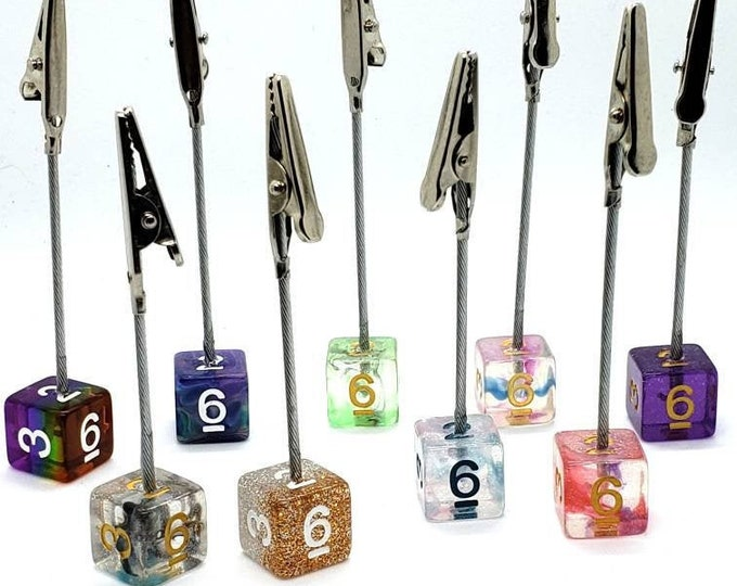Multipurpose D6 Clips - Place Settings - Photo Holders - Roach Clips - Table Markers