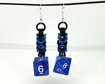 Horizon Byzantine Dice Earrings - D6 and D8 Earrings - D&D Earrings - DND Earrings - DnD Dice