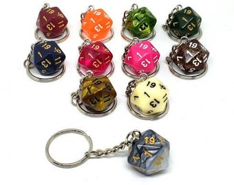 D20 Nat 1 Keychain or Necklace - Dungeons and Dragons Keychain - Dice - 20 Sided Dice - DnD Dice - Bad Luck