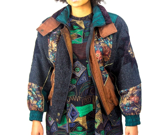 Womens Vintage Jacket 80's | Otello Pelle Victoria