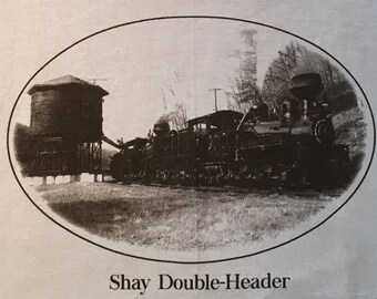 Shay Double-Header train t-shirt, Locomotive t shirt, Steam engine t shirt