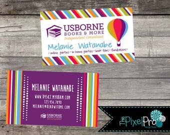 Usborne business cards, Usborne consultant business cards, Usborne marketing supplies and business cards, Usborne information cards, USBORNE