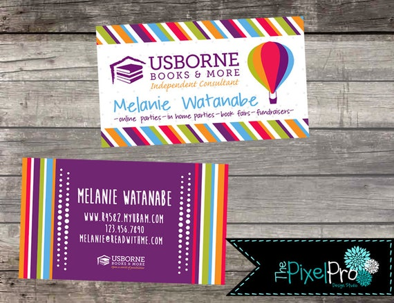 Usborne Business Cards Usborne Consultant Business Cards Etsy