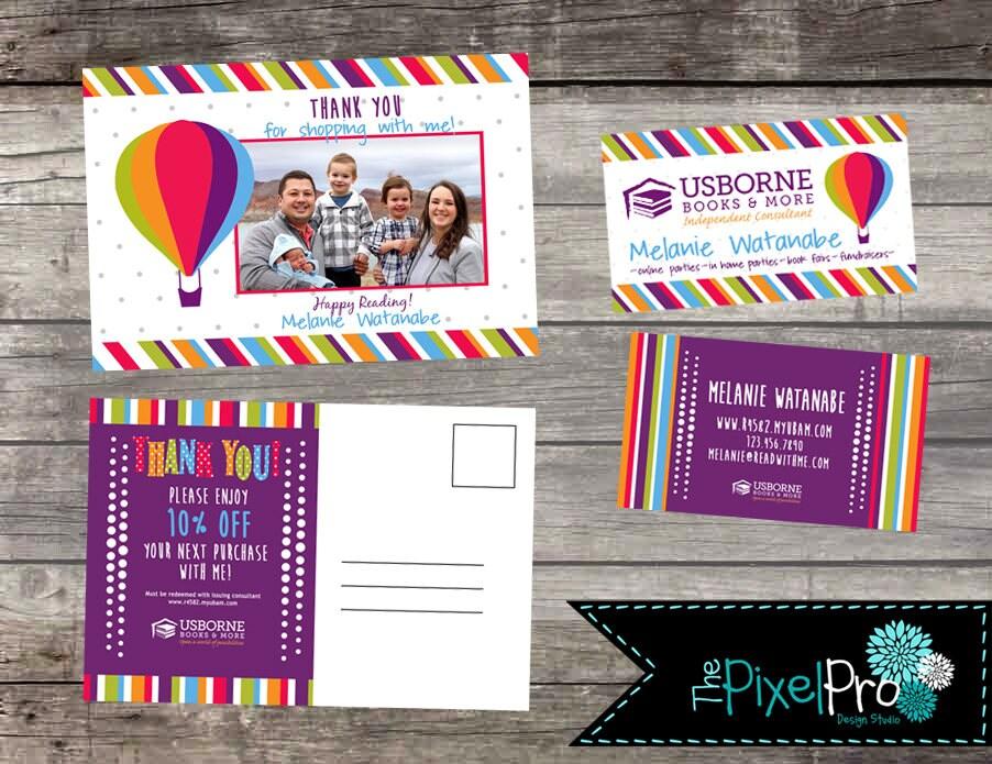 Usborne Business Card And Usborne Thank You Postcard Bundle Etsy