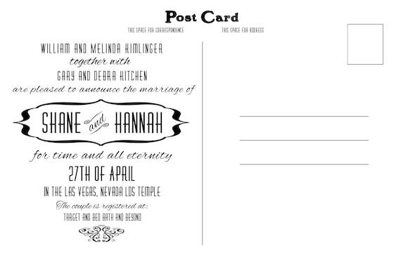 Wedding Invitation Postcard Postcard To Mail Invite Invitation Postcard Postcard Wedding Inviation Mail A Postcard Invite Wedding