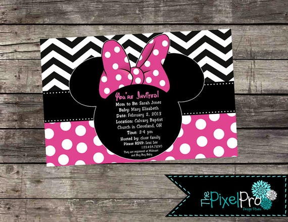 Minnie mouse baby shower invitation minnie mouse invitation etsy image 0 filmwisefo